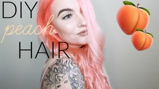 NEON PEACH HAIR WITH LIMECRIME