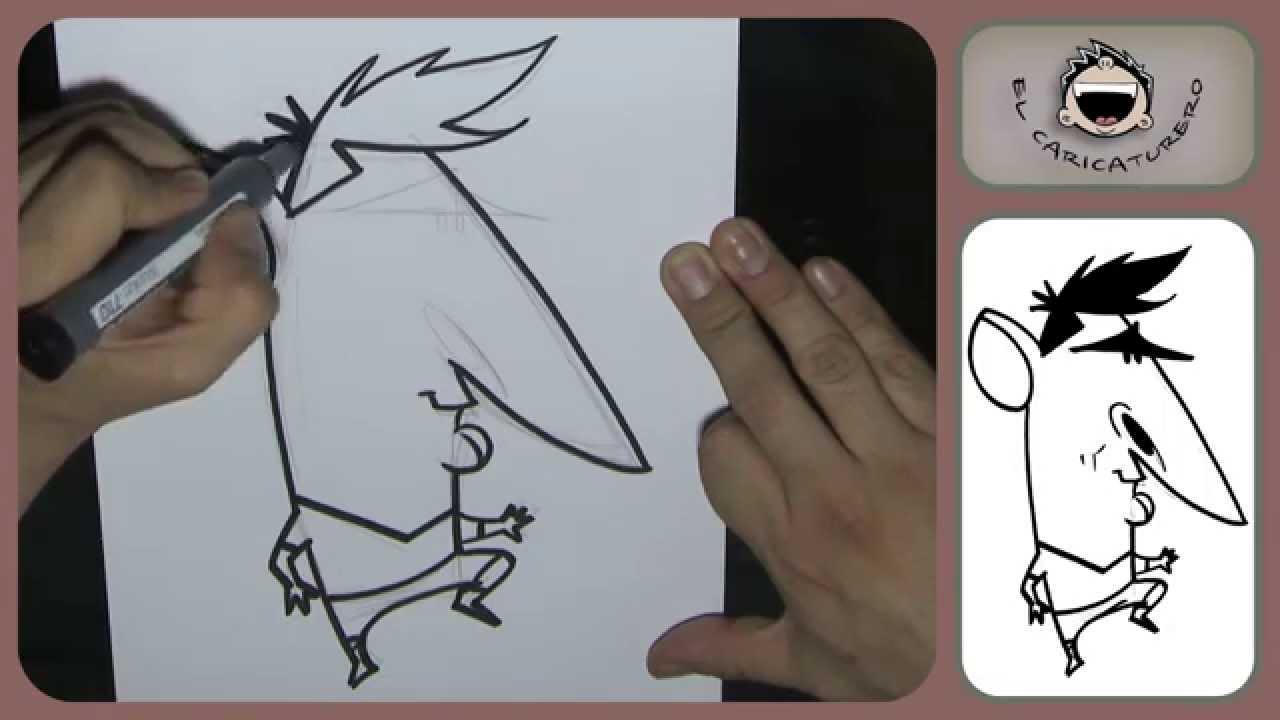 Cmo dibujar una caricatura de Messi How to draw caricature Messi