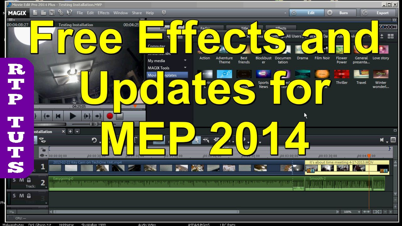Magix Movie Edit Pro 2014 Plus Free Effects Intros Outros Updates And A Magix Trick By Jon