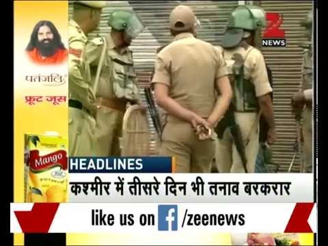 Tension continues in Srinagar and Anantnag along with seveal other distt of J&K