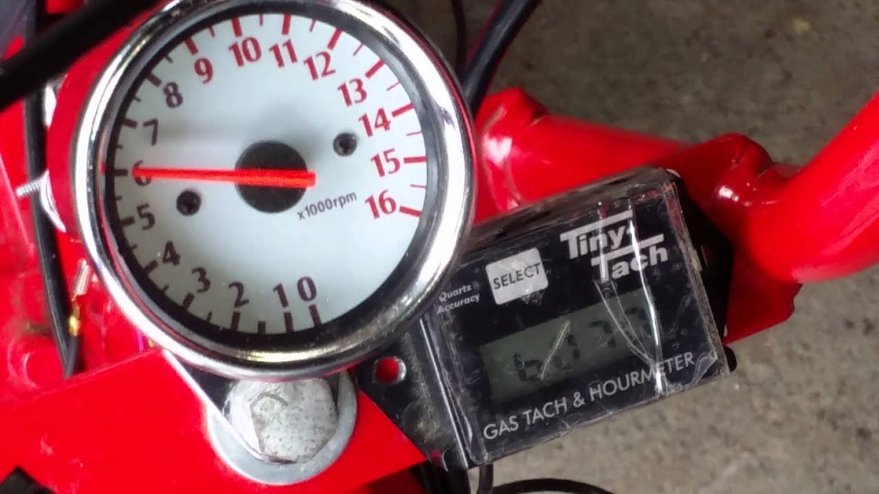 Cheap Ebay Tachometer 16000 Rpm Tacho Tiny Tach Scooter Mini Digital Meter Wiring Diagrams Bike Youtube
