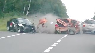 Russian Car crash compilation August week 1