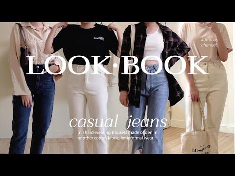 (eng) ไอเดียแต่งตัว ด้วยกางเกงยีนส์ สไตล์สาวเกา , CASUAL JEANS LOOKBOOK 👖 / KARNMAY