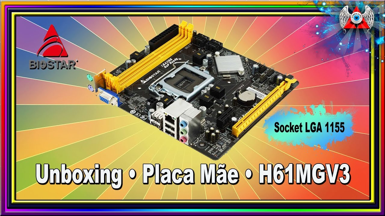 Unboxing • Placa Mãe Biostar Modelo- H61MGV3- Socket LGA 1155 • (nº1047)