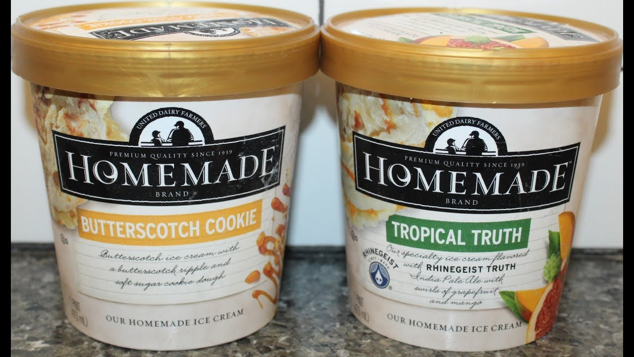 Homemade Brand Ice Cream: Butterscotch Cookie & Tropical Truth Review