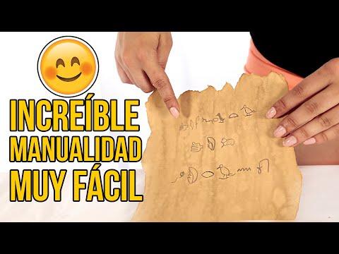 INCREÍBLE MANUALIDAD PARA NIÑOS - Cómo hacer un mensaje secreto