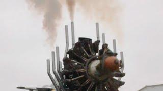 Запуск мотора АШ-62ИР на стенде