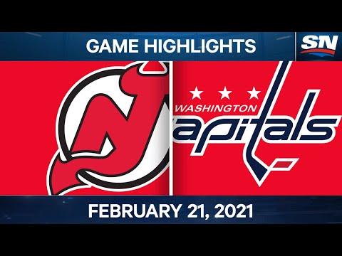 NHL Game Highlights | Devils vs. Capitals - Feb. 21, 2021