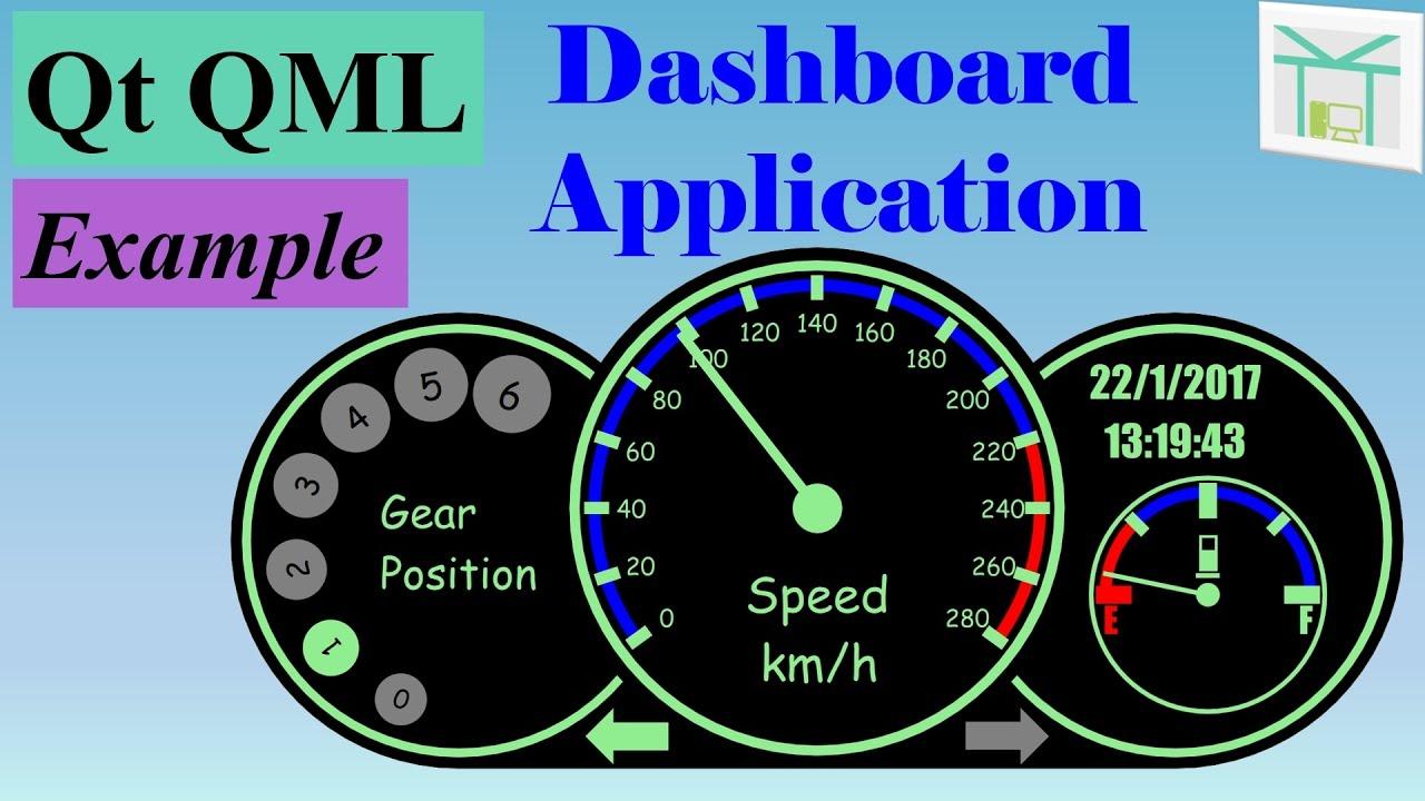 Qt QML Example 2 - Dashboard