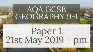 AQA GCSE 9-1 GEOGRAPHY PAPER 1 2019 - Physical Geography