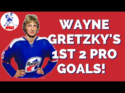 buy popular 8b0c2 d981e Wayne Gretzky First Two Pro Goals with the WHA Indy Racers