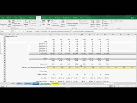 Dry Cleaning Business Cash Flow Model - Excel