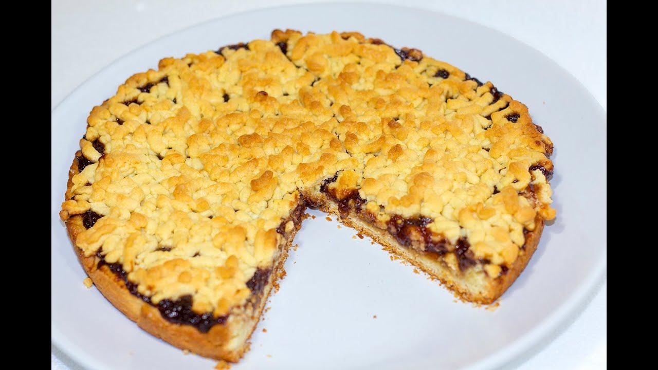 Тертый пирог с вареньем видео