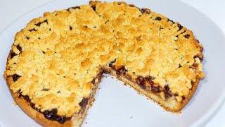 Тертый пирог с вареньем из песочного теста | Песочный пирог | Простой пирог