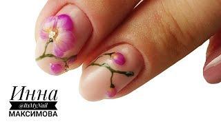 ❤ ОБЪЕМНЫЙ ЦВЕТЫ на ногтях ❤ рисуем ОРХИДЕЮ гель лаком ❤ MEISTER WERK ❤ КРАСИВЫЙ дизайн ногтей ❤