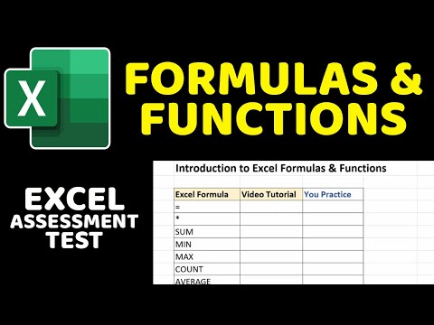 Excel Assessment Test: Formulas And Functions Tutorial (SUM, MIN, MAX, COUNT, AVERAGE)