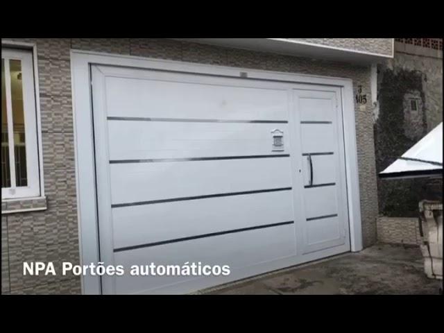 PORTÃO DE ALUMÍNIO ABRINDO E FECHANDO ( NPA )