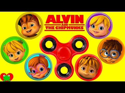Alvin and The Chipmunks Fidget Spinner Play Doh Surprises Best Learning Video For Kids