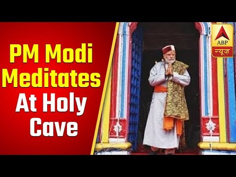 PM Modi Meditates At Holy Cave In Kedarnath | ABP News