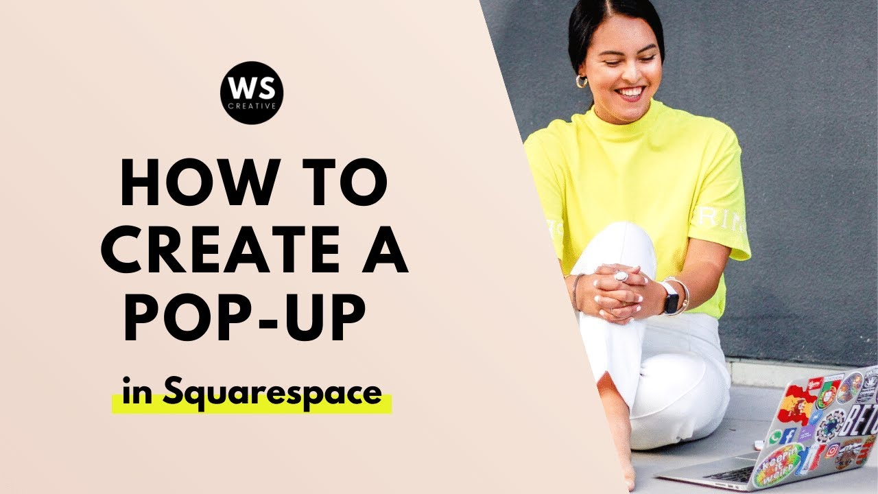 How to create a pop-up in your Squarespace Website