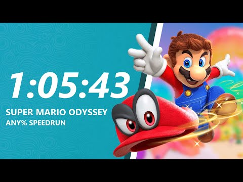 Super Mario Odyssey - Any% Speedrun in 1:05:43