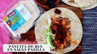 BURRITOS DE PANCITA DE RES EN SALSA PASILLA ~ A Unique Tripe In A Pasilla Sauce Burrito (How To)