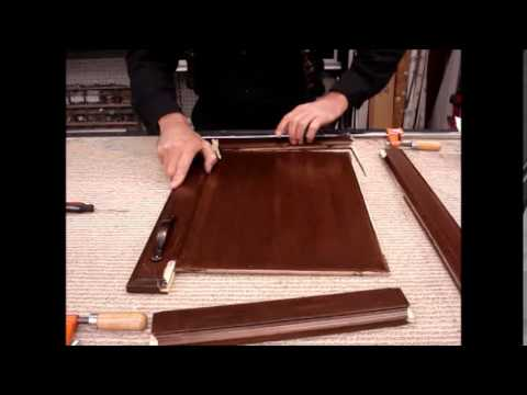 How to repair, restore a broken cabinet door, fix with glue and stain