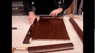 How To Repair, Restore A Broken Cabinet Door With Glue And Stain