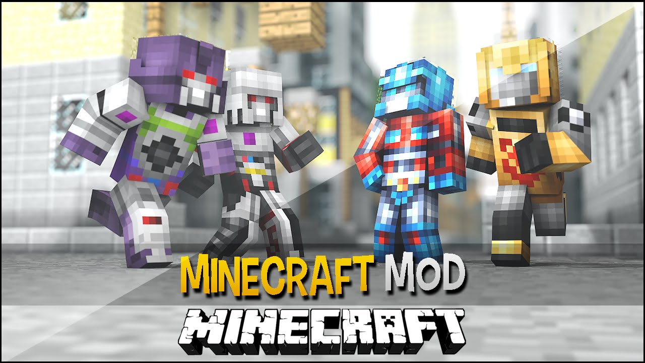Minecraft Mod TRANSFORMERS Vire Robs E Carros Naves