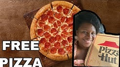 HOW TO GET FREE PIZZA 🍕 FROM PIZZA HUT 😀🙌🏾
