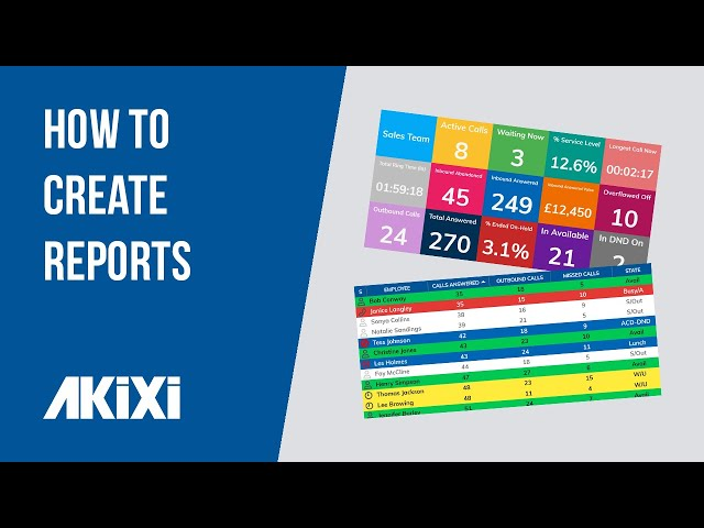 How to Create Reports in Akixi