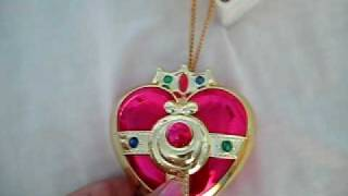 Sailor Moon S Heart Locket Brooch Compact Cosplay RPG Toy