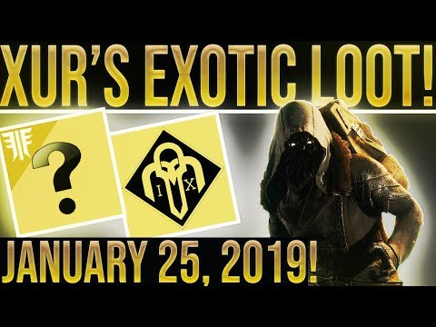 Destiny 2. Xur Location & Exotic Loot January 25, 2019. (GREAT WEEK!)! Where is Xur 1-25-2019? thumbnail