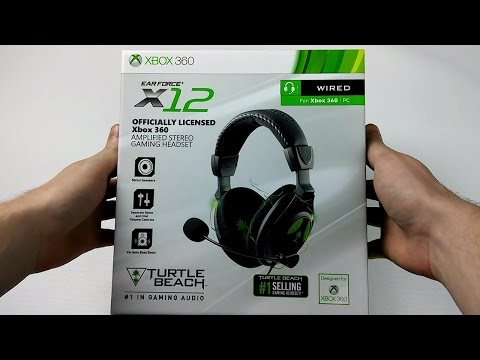 TURTLE BEACH X12 Gaming Headset Unboxing