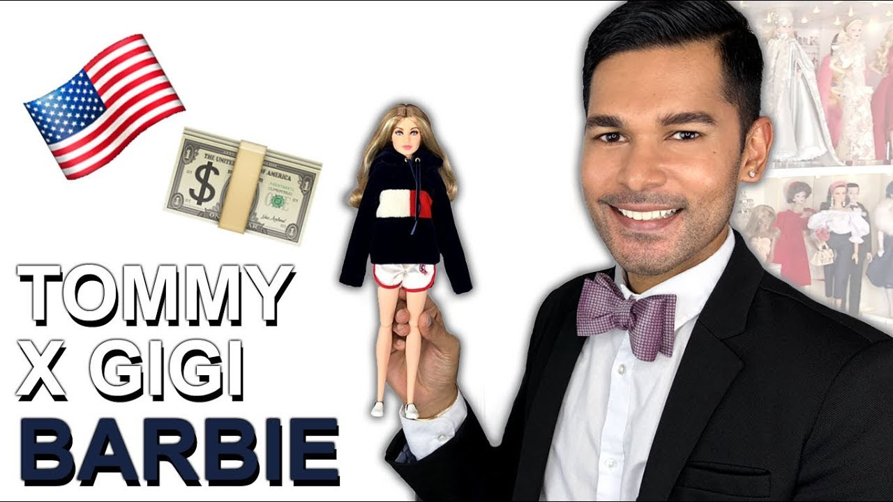 tommy x gigi hadid barbie doll barbie collector review youtube. Black Bedroom Furniture Sets. Home Design Ideas