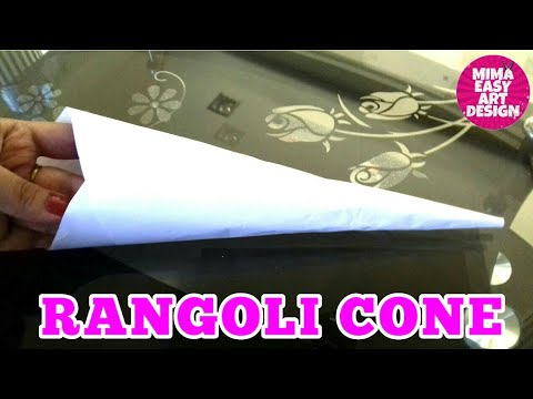 how to make rangoli cone at home