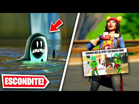 ESCÓNDETE O *MEME* en FORTNITE 😂😂 (divertido)