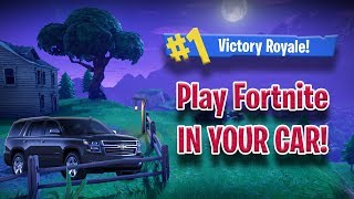 How to PLAY FORTNITE in your CAR! *Tutorial*