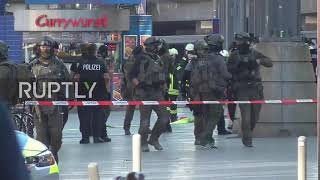 Emergency services were deployed at the central station in Cologne ...