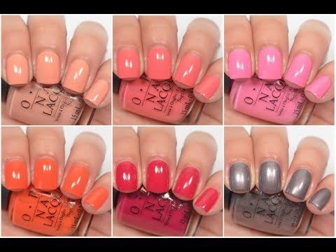 Opi California Dreaming Swatch Amp Review Youtube