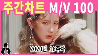 [주간차트 2020년 16주차] 금주의 KPOP 아이돌 뮤직비디오 순위 100 - 2020년 4월 19일 |…