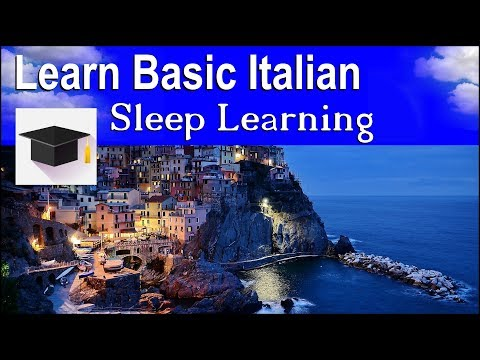 Learn Italian ★ Sleep Learning ★ Learn Basic Italian Phrases With Binaural Beats.