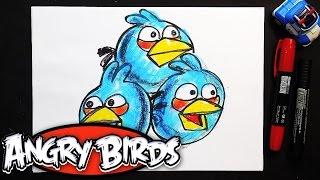 Как рисовать Злых Птичек | Урок рисования для детей Angry birds(Три птички Джей, Джейк и Джим. Рисуем птичек из Angry birds. Выходит мультик для детей Angry birds и я решил нарисовать..., 2016-06-03T10:04:44.000Z)