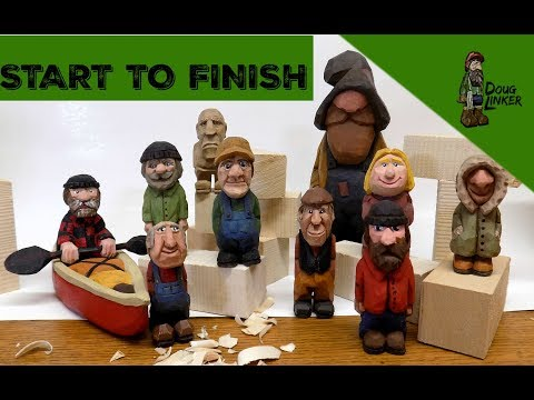 Woodcarving How To: Carve A Little Man -Start To Finish ,Full Tutorial