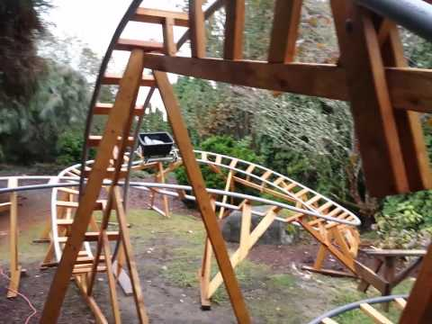 3D Backyard Roller Coaster Track Test Run
