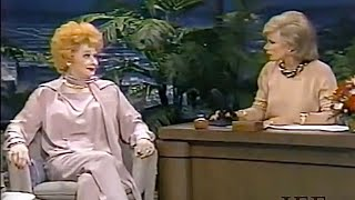 """Lucille Ball interview with Joan Rivers on """"The Tonight Show"""", November 1985"""