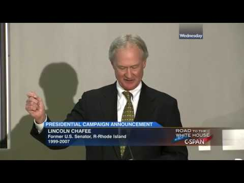 Lincoln Chafee Announces Candidacy for President (2016)