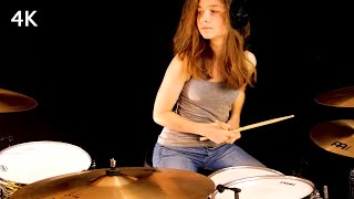 Download lagu Don't Stop Believin' (Journey); drum cover by Sina