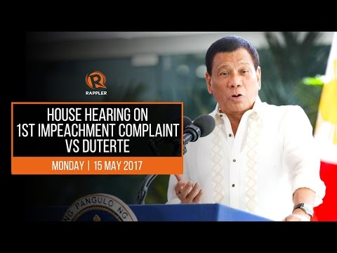 House hearing on 1st impeachment complaint vs Duterte