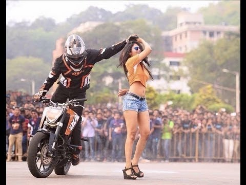 awesome bike stunt inside  L  P  U campus  || performed by LPU students